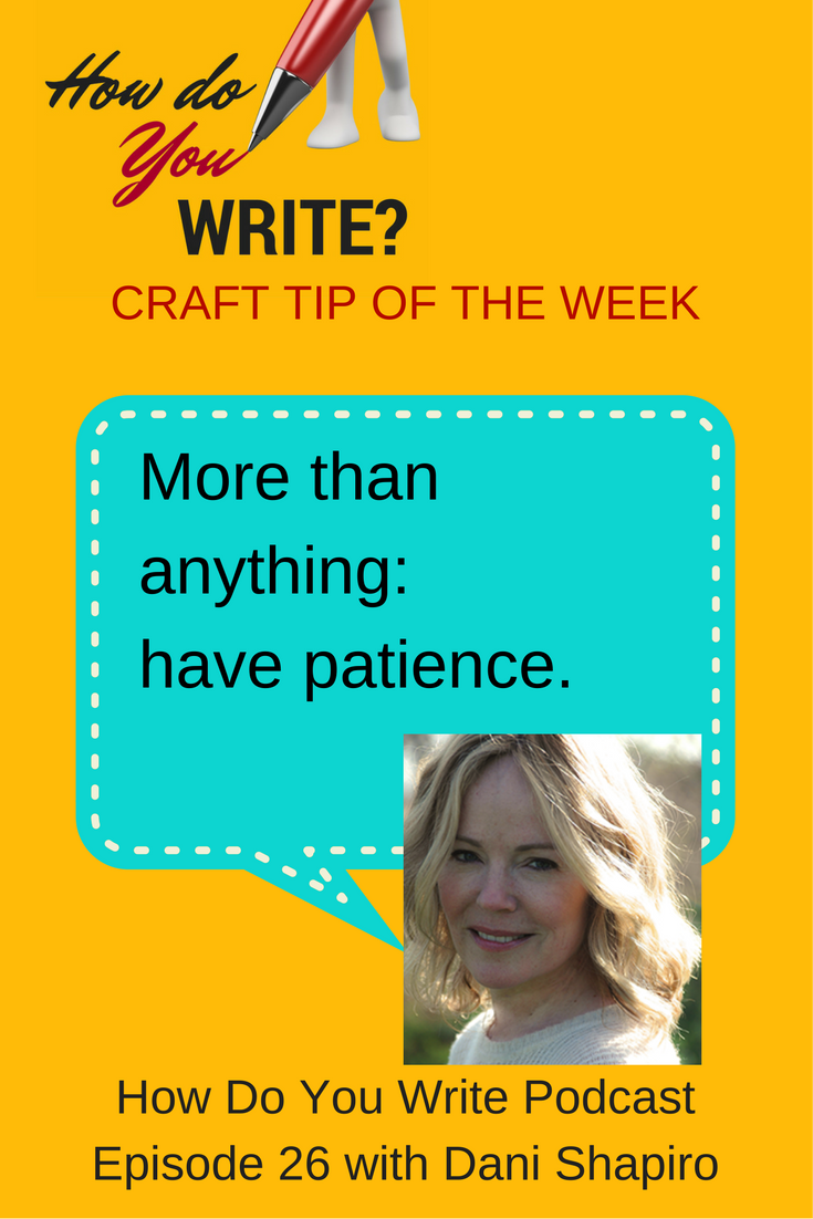 Dani Shapiro talks about writing memoir on How Do You Write with Rachael Herron