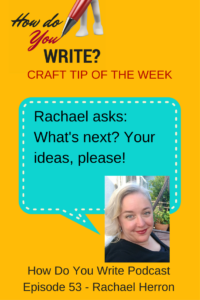 In this episode, learn which crime Rachael tried to commit in Canada, as she reevaluates her writing life.